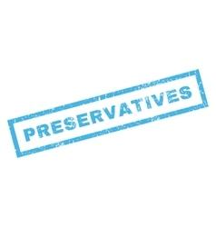 Preservatives Rubber Stamp vector image