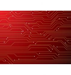 circuit board red vector image vector image