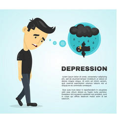 depression infographic concept flat vector image