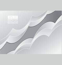 gray abstract wave overlap background with copy vector image vector image