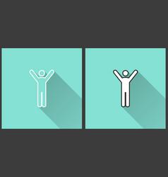 man - icon vector image