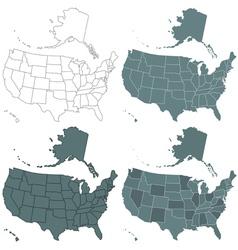 USA map set vector image vector image