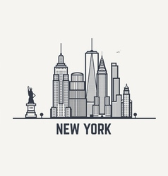 Balck and white lines New York copy vector image vector image