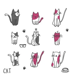 Cats - freehand drawing vector image