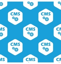CMS settings hexagon pattern vector image vector image
