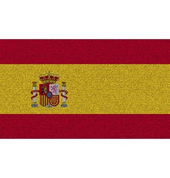 Flags Spain on denim texture vector image