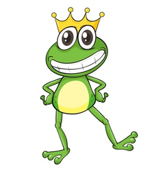 King Cartoon Frog vector image