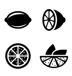 lemon icons set vector image