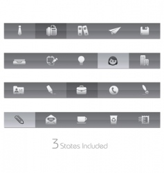 office and business bars vector image