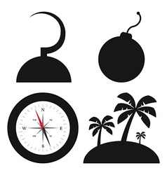 Pirate Objects vector image vector image
