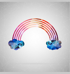 abstract creative concept icon of rainbow vector image