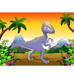 Dinosaur stegosaurus cartoon for your design vector