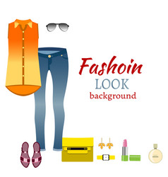 fashion look background vector image
