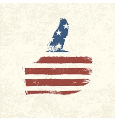 like symbol american flag vector image vector image
