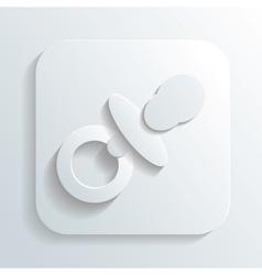 pacifier icon vector image vector image