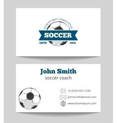 Soccer business card vector image vector image