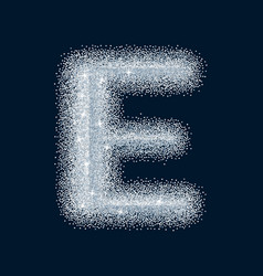 sugar sweet stylized realistic letter alphabet vector image