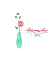 vase of flowers vector image vector image