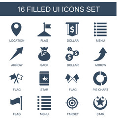16 ui icons vector