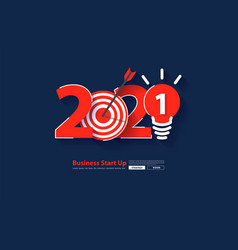 2021 new year startup business rocket launch vector image