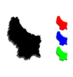 3d map of luxembourg vector