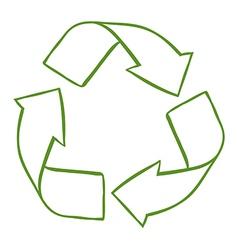 A recycle symbol vector image