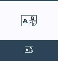 abc logo vector image