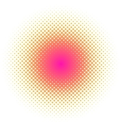 Abstract colorful halftone dots circle round vector