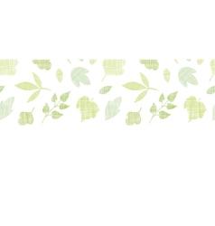 Abstract textile texture horizontal border vector