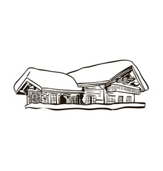 alpine house sketch vector image