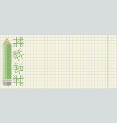 back to school background with green pencil vector image