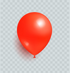 Balloon red color realistic design isolated vector