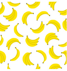banana seamless pattern bunches fresh yellow vector image