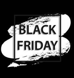 Black frame for black frida vector