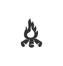 Bonfire icon isolated on a white background vector image