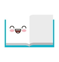 book school character isolated icon vector image