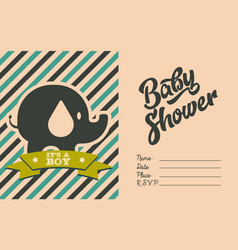 boy bashower invite greeting card vector image