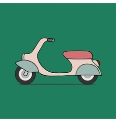 Classic moped vector image