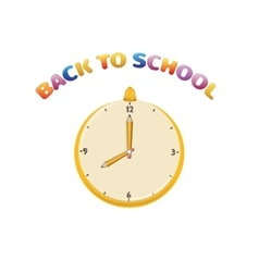 clock for back to school vector image