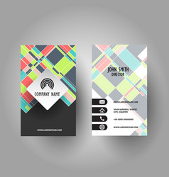 colourful business card design vector image