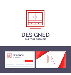 creative business card and logo template cabinet vector image