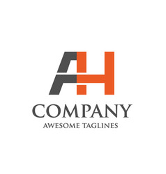 Creative letter ah logo vector