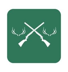 deer horn hunt icon vector image