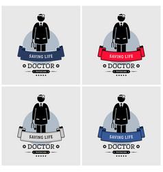 doctor logo design artwork medical specialist vector image
