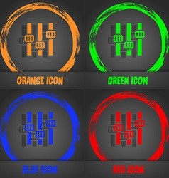 Equalizer icon Fashionable modern style In the vector image