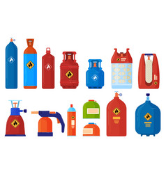 Flammable gas cylinder container vector