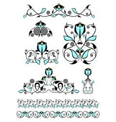 Flower decor elements vector image
