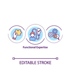 Functional expertise concept icon vector