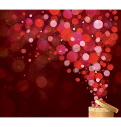 gift red lights vector image
