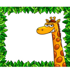 Giraffe in woods vector